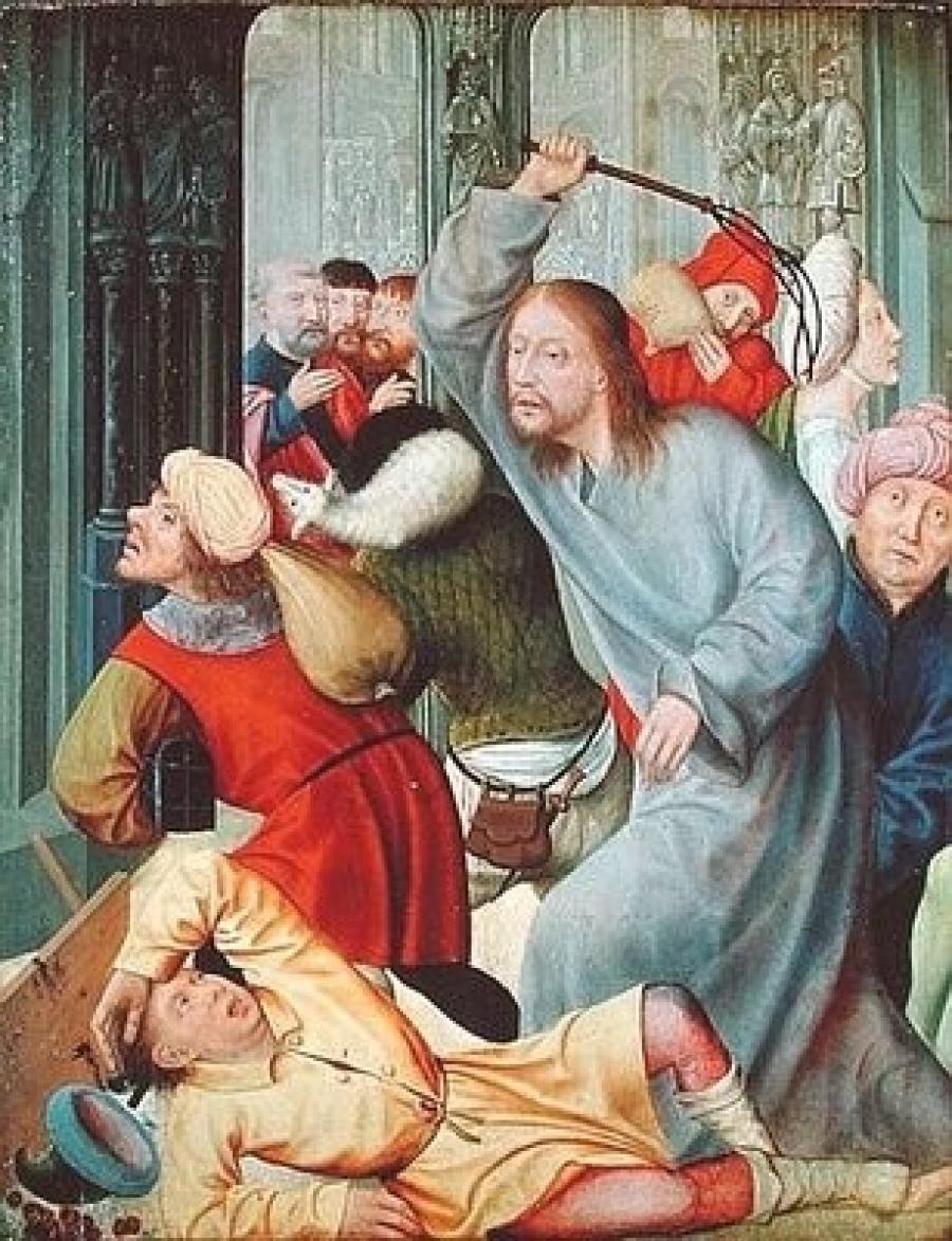 Gesu scaccia i mercanti dal tempio 2