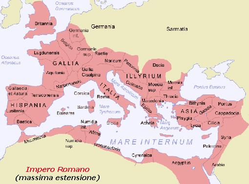 ImperoRomano massima estensione